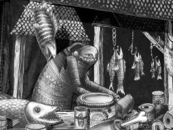 10. Market Traders by Phlegm. Castle House, Sheffield - September 2014SBP1300064