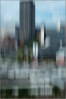 Sheffield City Centre | Hand Held Motion Blur | 5 August 2016 | © Postcard Cafe (sdscf0839e)