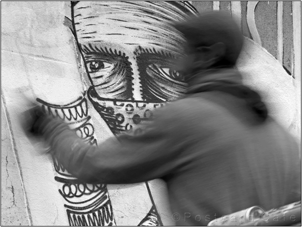 Work in Progress | Phlegm on Snuff Mill Lane | Sheffield 26 October 2016 | Eye Eye| © Postcard Cafe (sp1000545e)