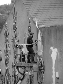 10. Work in Progress | Phlegm on Snuff Mill Lane | Sheffield 26 October 2016 | Adding Machine Detail | © Postcard Cafe (sp1000588e)