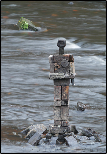Kindness | Sculpture by Dan in the River Don | Sheffield | November 2016 | © Postcard Cafe  (sp1000900e)