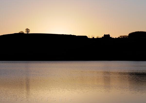 Sunrise    Redmires Reservoir Sheffield   © Postcard Cafe 2016  (s_1050590e)