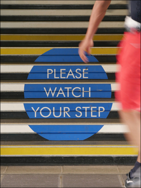 Brexit Road Map | Please Watch Your Step | © Postcard Cafe | SP1050230E1