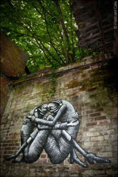4. 2010 – 2020 Retrospective | Street Art Vol. 2 Huggin' by Phlegm September 2012