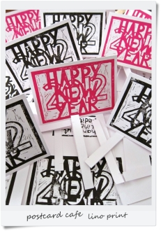 1. 2010 – 2020 Retrospective | Words and Music | Lino print January 2012