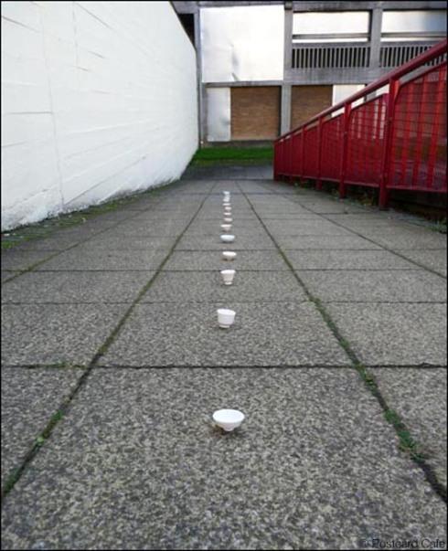6. 2010 – 2020 Retrospective | But is it Art? | Porcelain pots at Park Hill Flats Sheffield November 2010