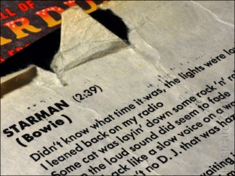 9. 2010 – 2020 Retrospective | Words and Music | Starman lyrics from inner sleeve to Ziggy Stardust album | 13 January 2016