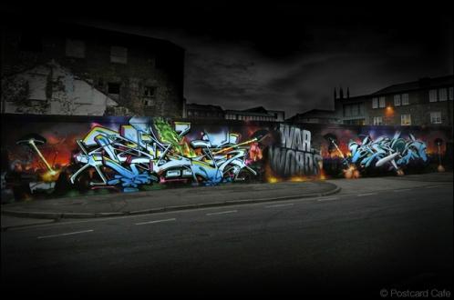 11. 2010 – 2020 Retrospective | Street Art Vol. 2 | War of The Words by Jaer and Gzos TIO Crew Sheffield | November 2012